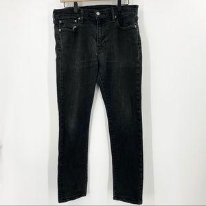 Levi's Men's 512 Black Wash Jeans sz 33W